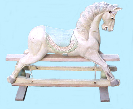 Imported rocking horse on  swing stand